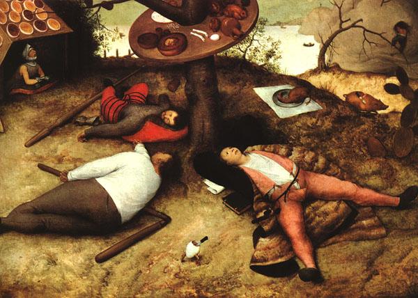 Le pays de Cocagne, de Pieter Bruegel